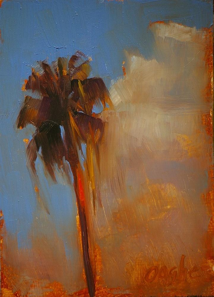 """Palm Tree"" original fine art by Angela Ooghe"