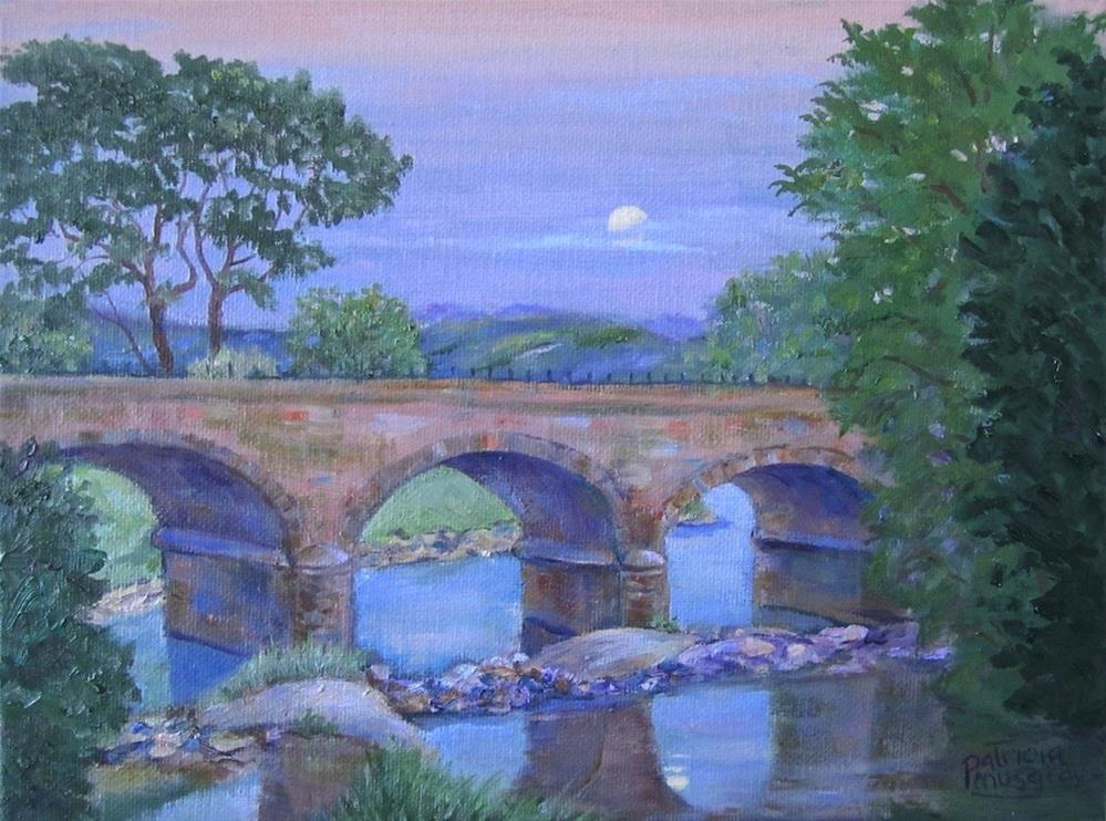 """Railroad Bridge at the River Wyre"" original fine art by Patricia Musgrave"