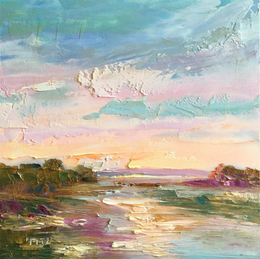 """Impasto Landscape Study 22"" original fine art by Charlotte Fitzgerald"