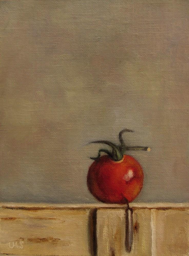 """""""Tomato on wodden Box"""" original fine art by Ulrike Miesen-Schuermann"""