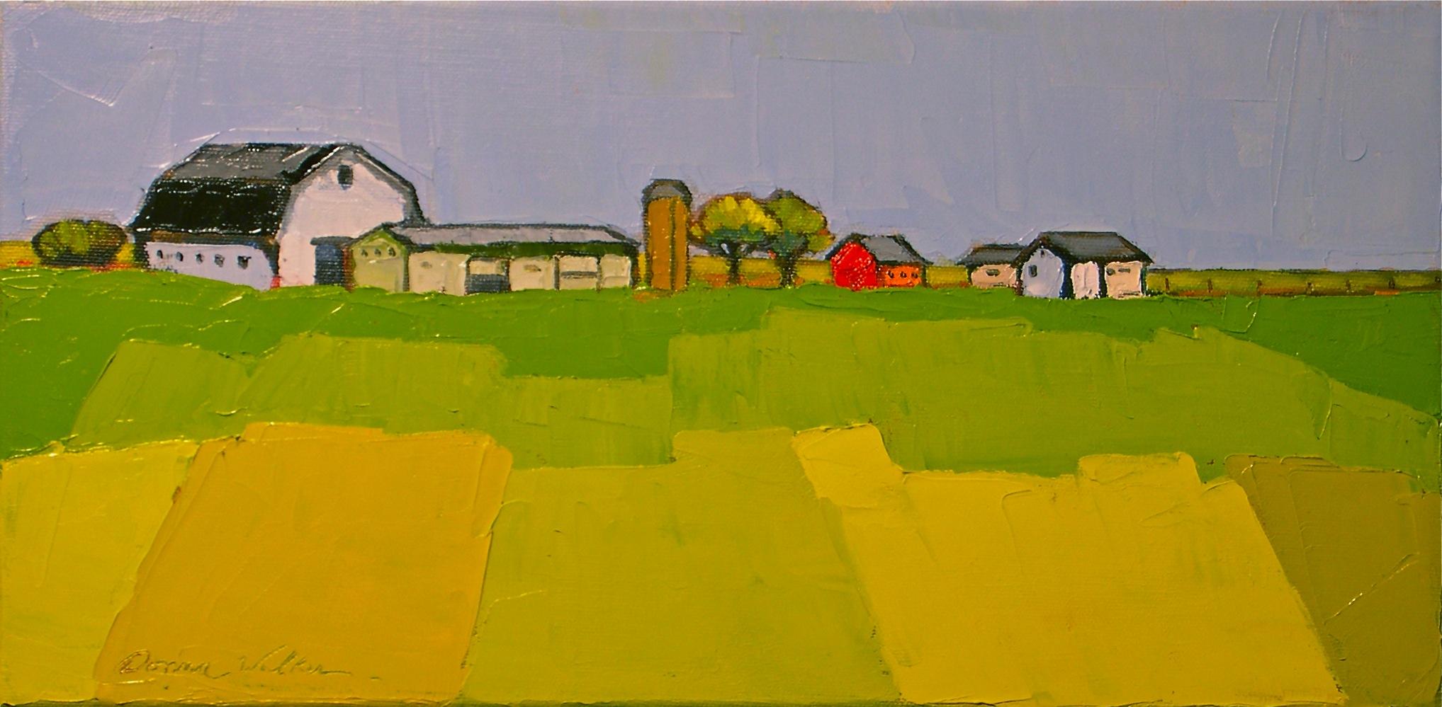 """Patchwork Field"" original fine art by Donna Walker"