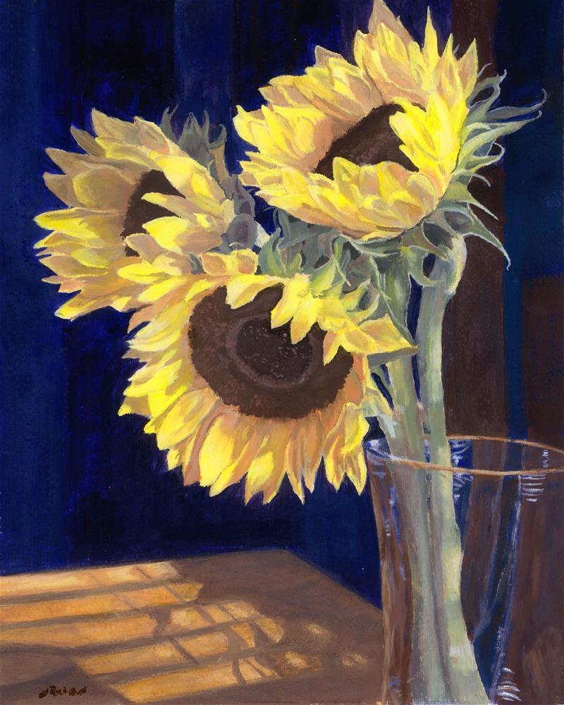 """Sunflowers and Light"" original fine art by Lynne Reichhart"