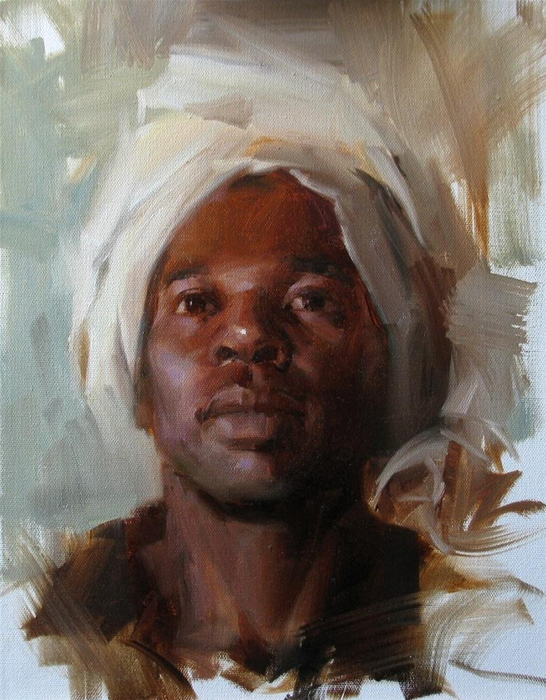 """AAU Portrait Painting 7"" original fine art by Qiang Huang"