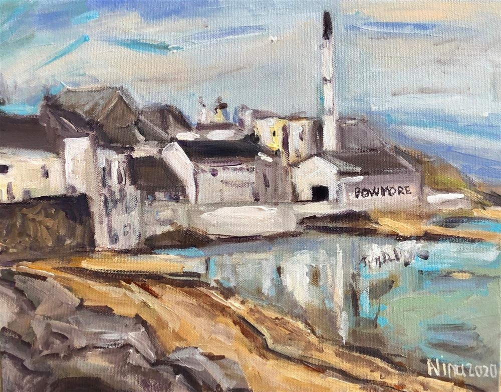 """Bowmore Distillery Scotland"" original fine art by Alina Vidulescu"