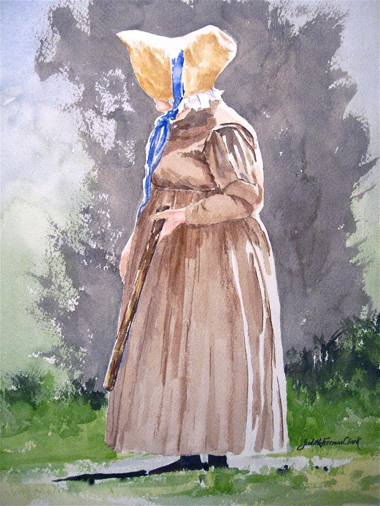 """Carry a Big Stick"" original fine art by Judith Freeman Clark"
