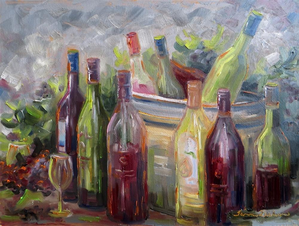 """""""Marceline Wine Stroll"""" original fine art by Tammie Dickerson"""