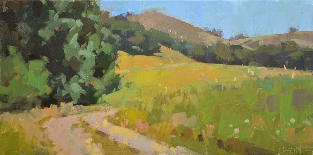 """Hayfield Road"" original fine art by Carol Marine"
