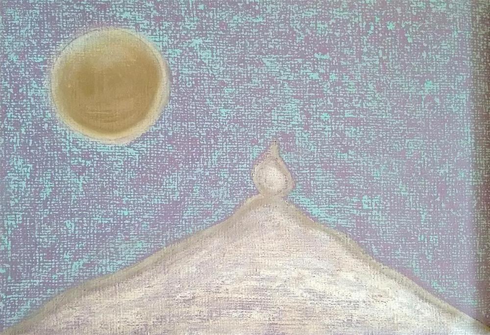"""""""Full Moon Cold Night"""" original fine art by Adéla Svobodová"""