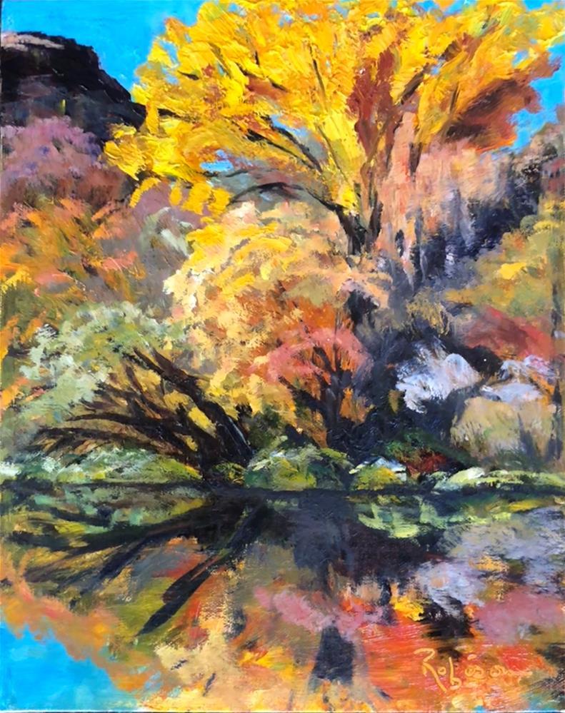 """Rio Grande Gorge Beauty"" original fine art by Renee Robison"