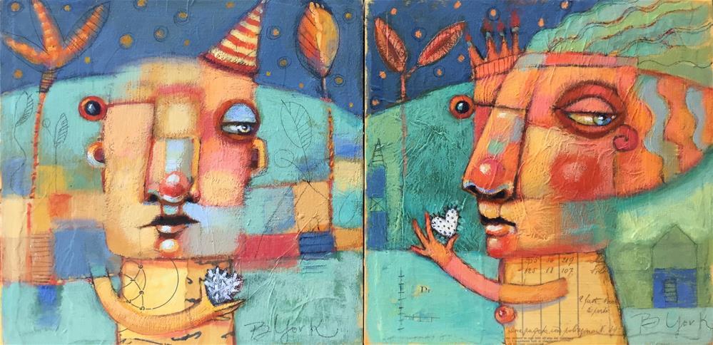 """Prickly Heart Bones, His And Hers"" original fine art by Brenda York"