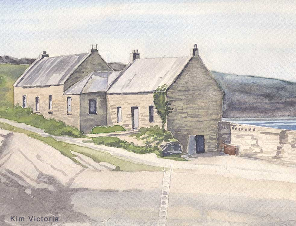 """StoneHouse, Scotland"" original fine art by Kim Victoria"