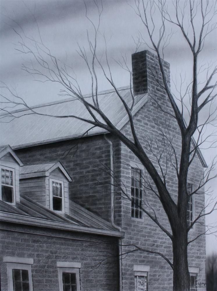 """""""House at Fourth & Main"""" original fine art by Fred Schollmeyer"""