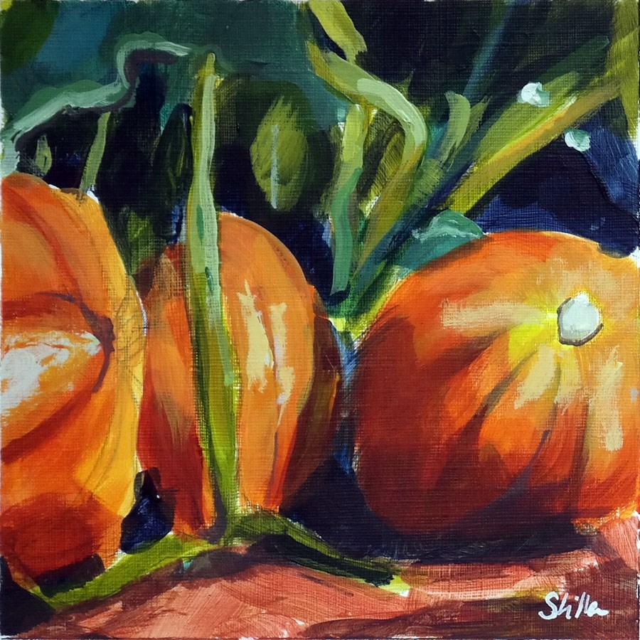"""""""1871 Pumpkin Time"""" original fine art by Dietmar Stiller"""