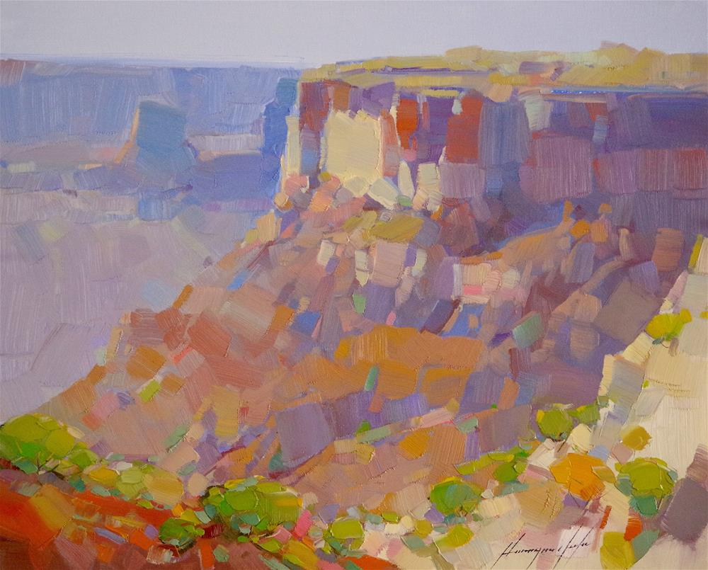 """""""Grand Canyon, Original oil Painting, One of a Kind"""" original fine art by V Y"""