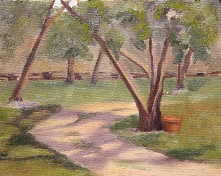"""Dappled Drive"" original fine art by Jane Frederick"