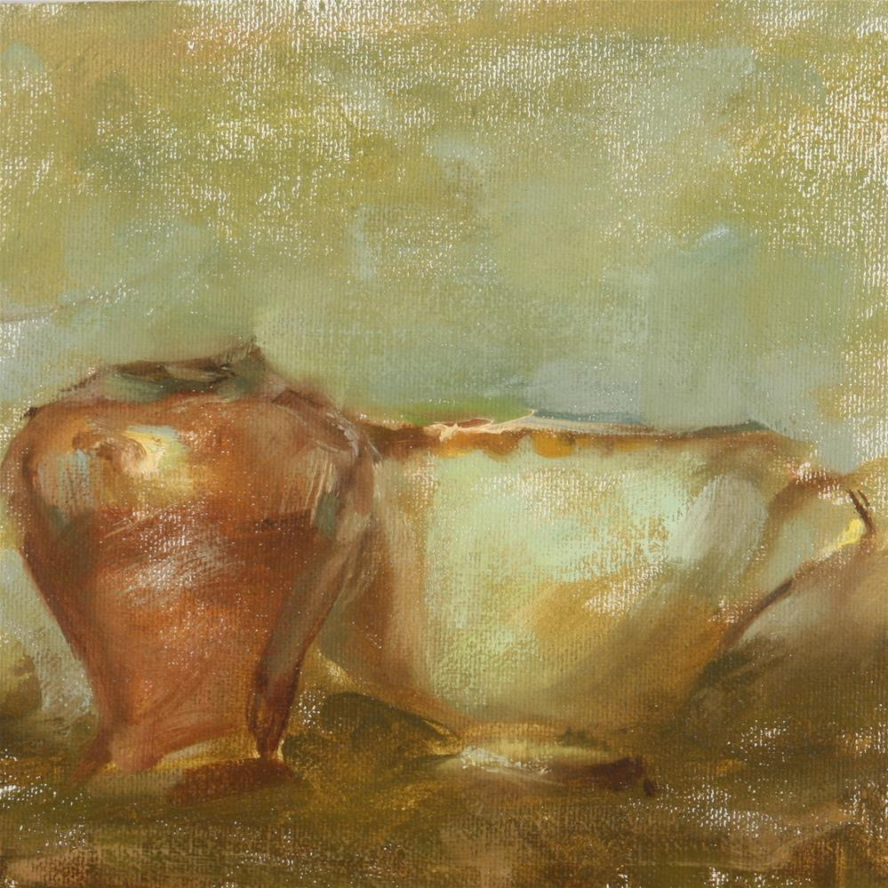 """Tea Cup and Vase"" original fine art by Scott Serafica"
