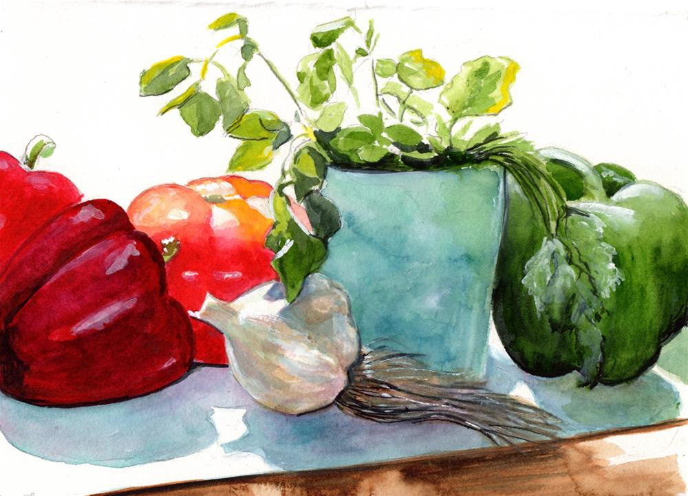 """Vegetables Still Life"" original fine art by Bunny Griffeth"
