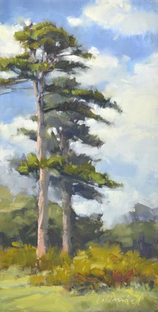 """Tall Pines"" original fine art by Laurel Daniel"