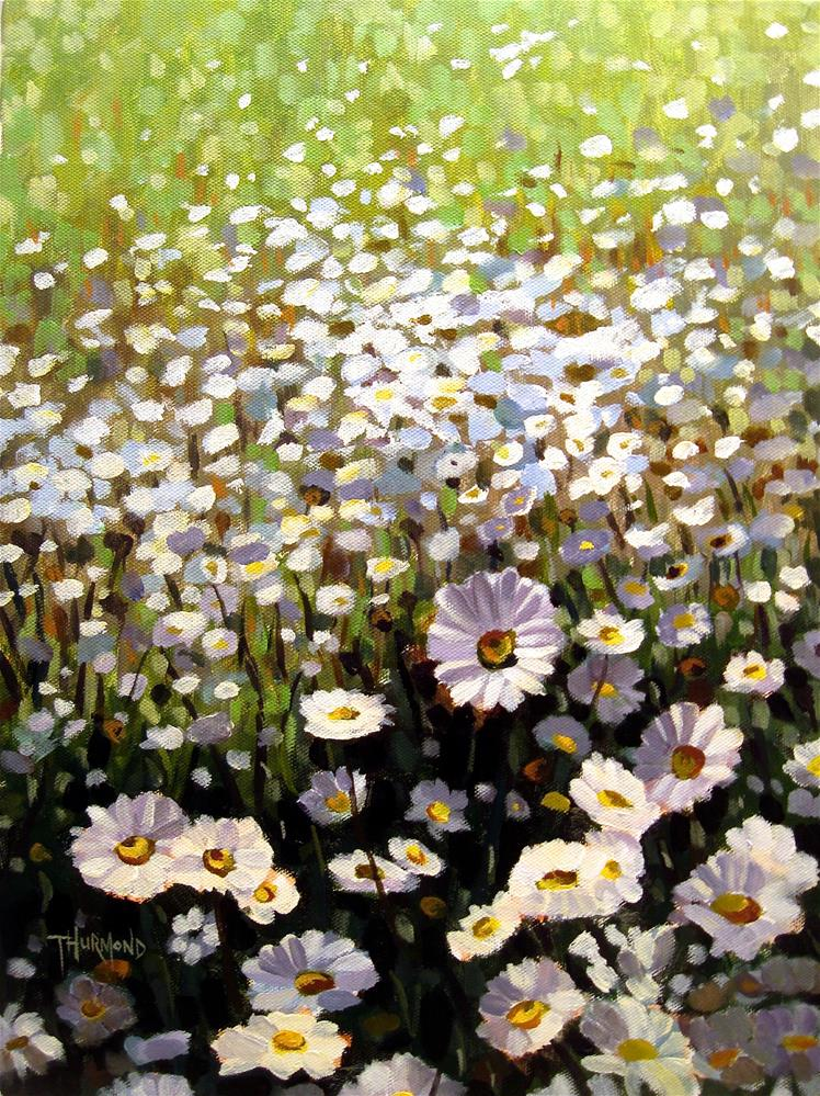"""River's Daisies"" original fine art by Zack Thurmond"