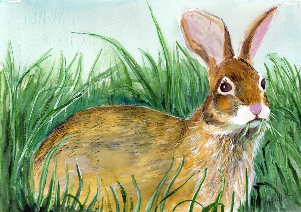 """Rabbit"" original fine art by Bunny Griffeth"