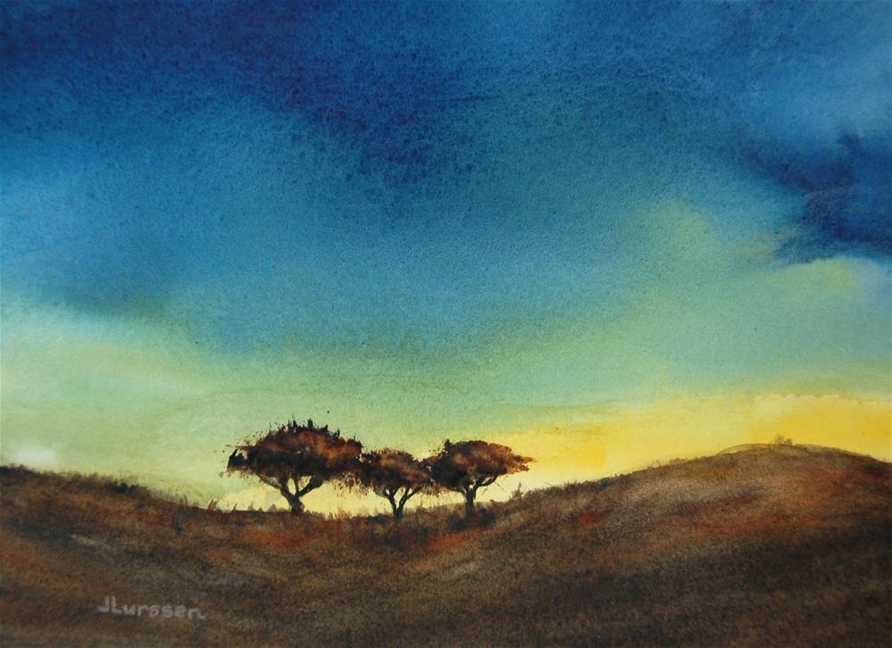 """Evening Glow"" original fine art by Jean Lurssen"