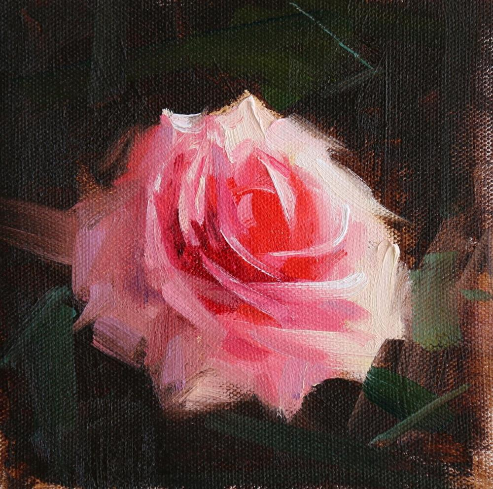 """Rose Study 2017 06"" original fine art by Qiang Huang"
