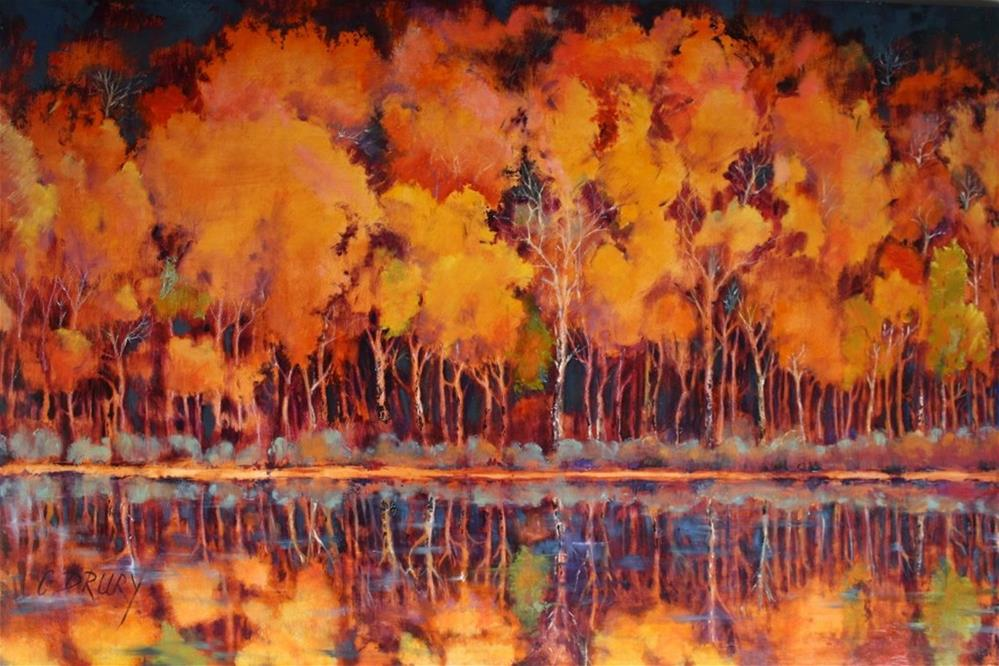 """Aspens Aflame"" original fine art by Colleen Drury"