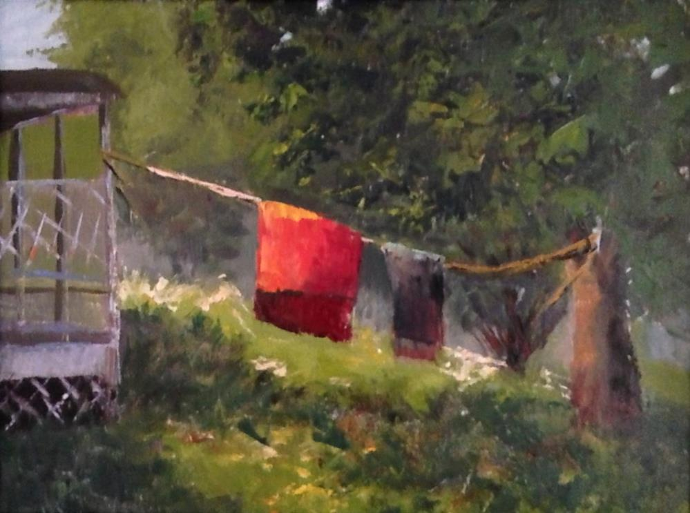 """""""Carpet Cleaning"""" original fine art by Judith Anderson"""