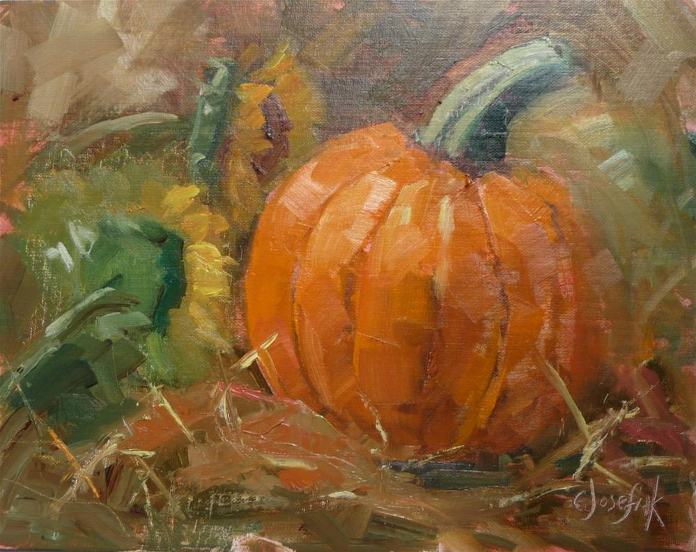 """Almost Halloween"" original fine art by Carol Josefiak"