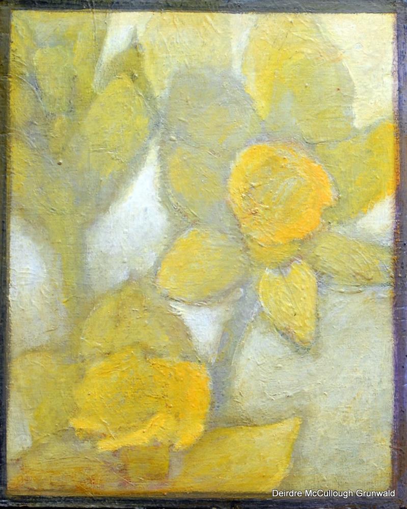"""""""Two Daffodils"""" original fine art by Deirdre McCullough Grunwald"""