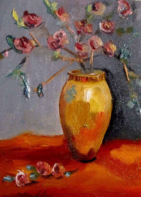 """Vase"" original fine art by Delilah Smith"