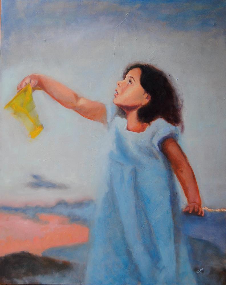 """Catching Stars"" original fine art by Lori Jacobs - Farist"