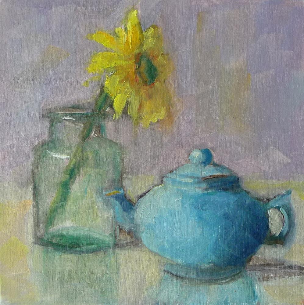 """Yellow Flower #2"" original fine art by Carol Josefiak"