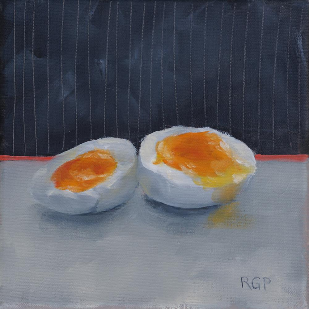 """Phil's Eggs"" original fine art by Rhea  Groepper Pettit"