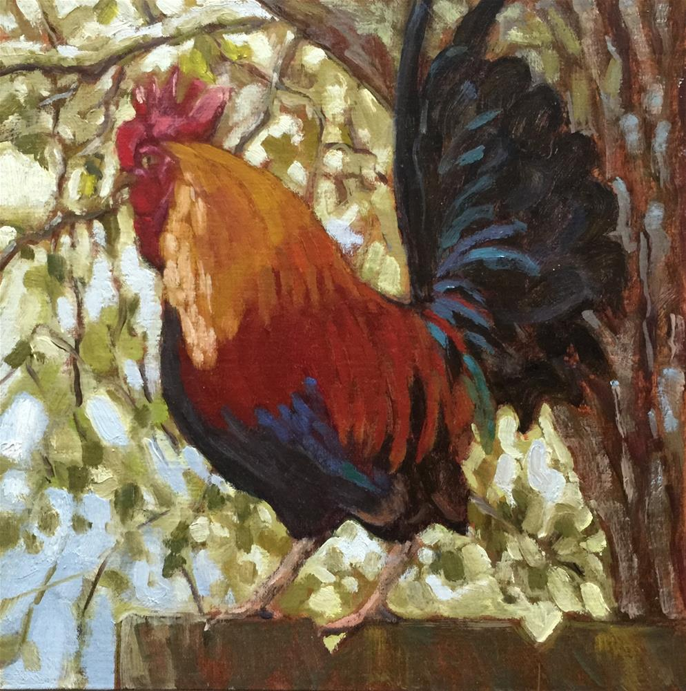 """On the Fence"" original fine art by Colleen Parker"