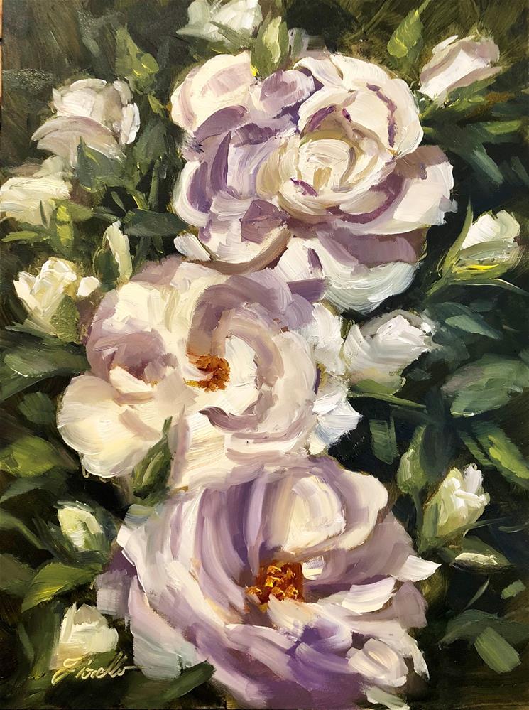 """Garden Whites I"" original fine art by Pat Fiorello"
