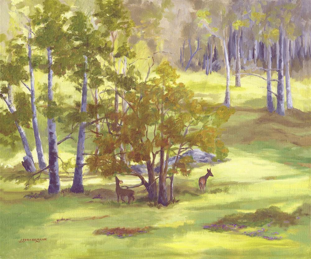 """Lengthening Shadows"" original fine art by Jeanne Strohrmann"