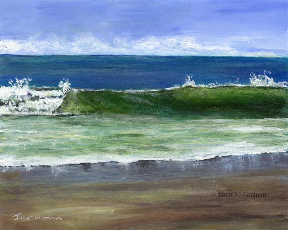 """Sandy Reflections"" original fine art by Janet Graham"