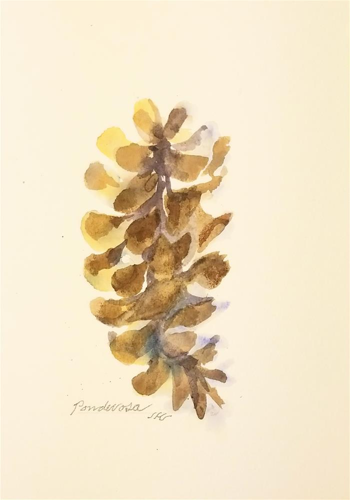 """Ponderosa"" original fine art by Jean Krueger"