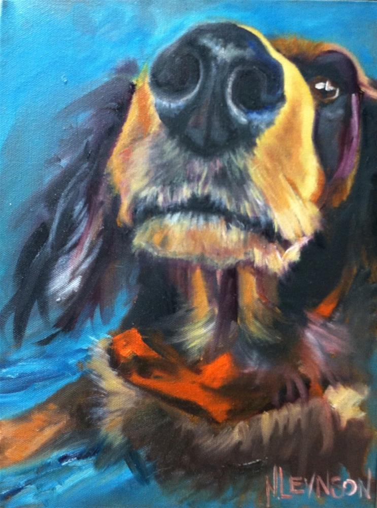 """He Smells Food"" original fine art by Nancy Levinson"