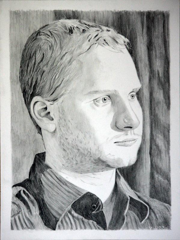"""Pencil Portraits - Part 3 - Matthew"" original fine art by Kirk Witmer"