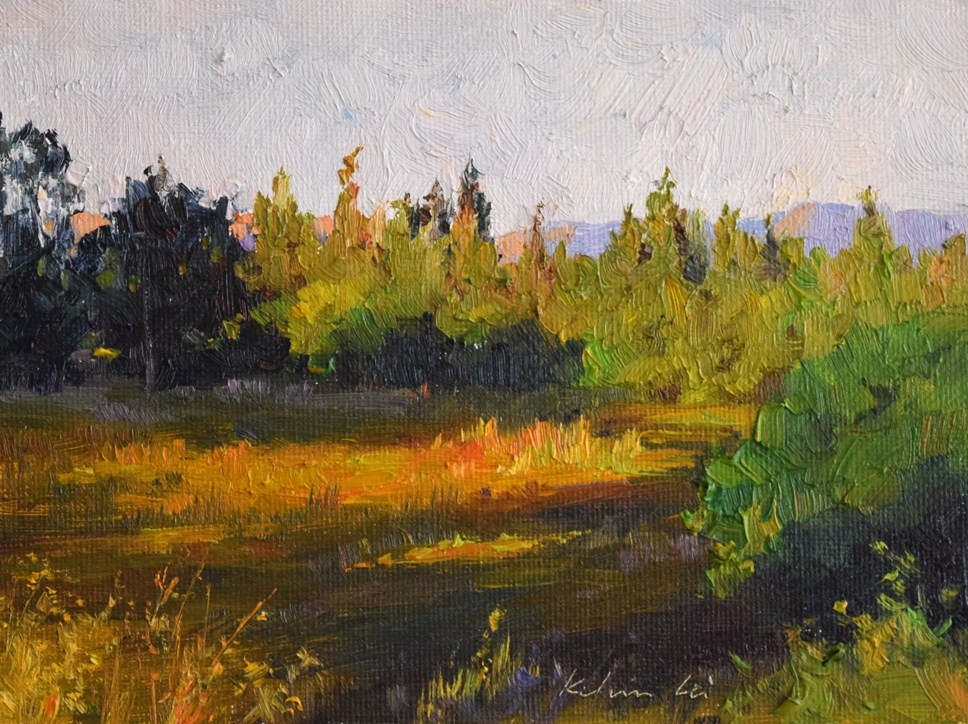 """""""Sunset in the Ulistac Natural Area"""" original fine art by Kelvin Lei"""