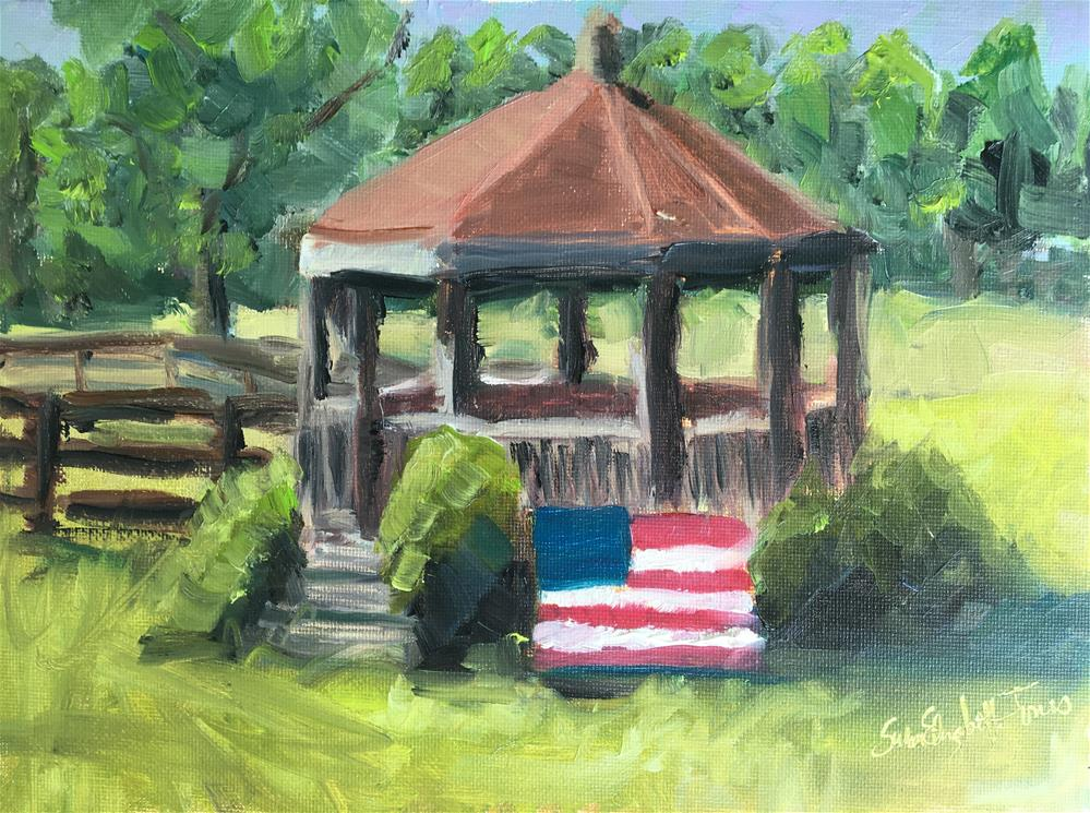 """Gazebo at Rippavilla"" original fine art by Susan Elizabeth Jones"