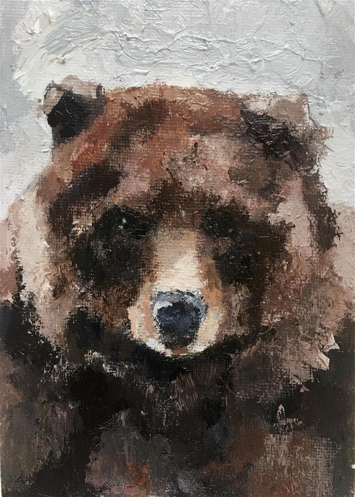 """Brown Bear Brown Bear"" original fine art by Nava Judith"