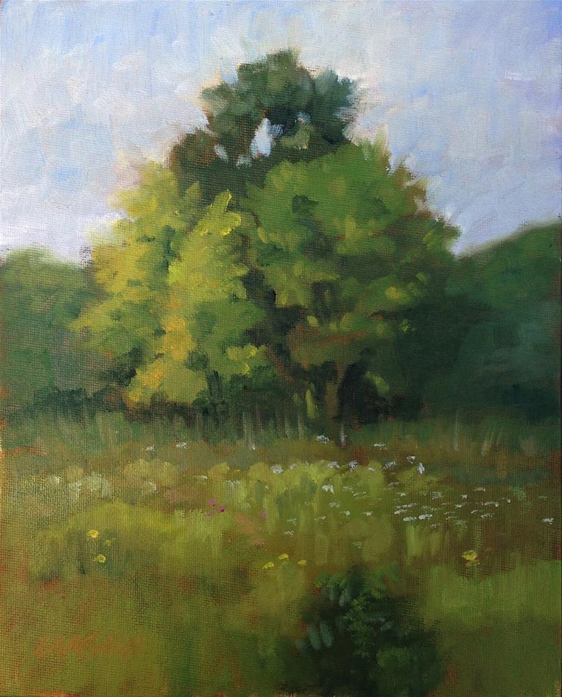 """Country Copse"" original fine art by Eric Larson"