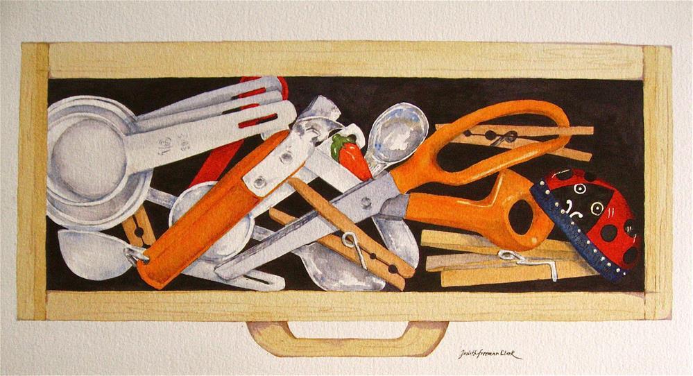 """""""Kitchen Drawer"""" original fine art by Judith Freeman Clark"""