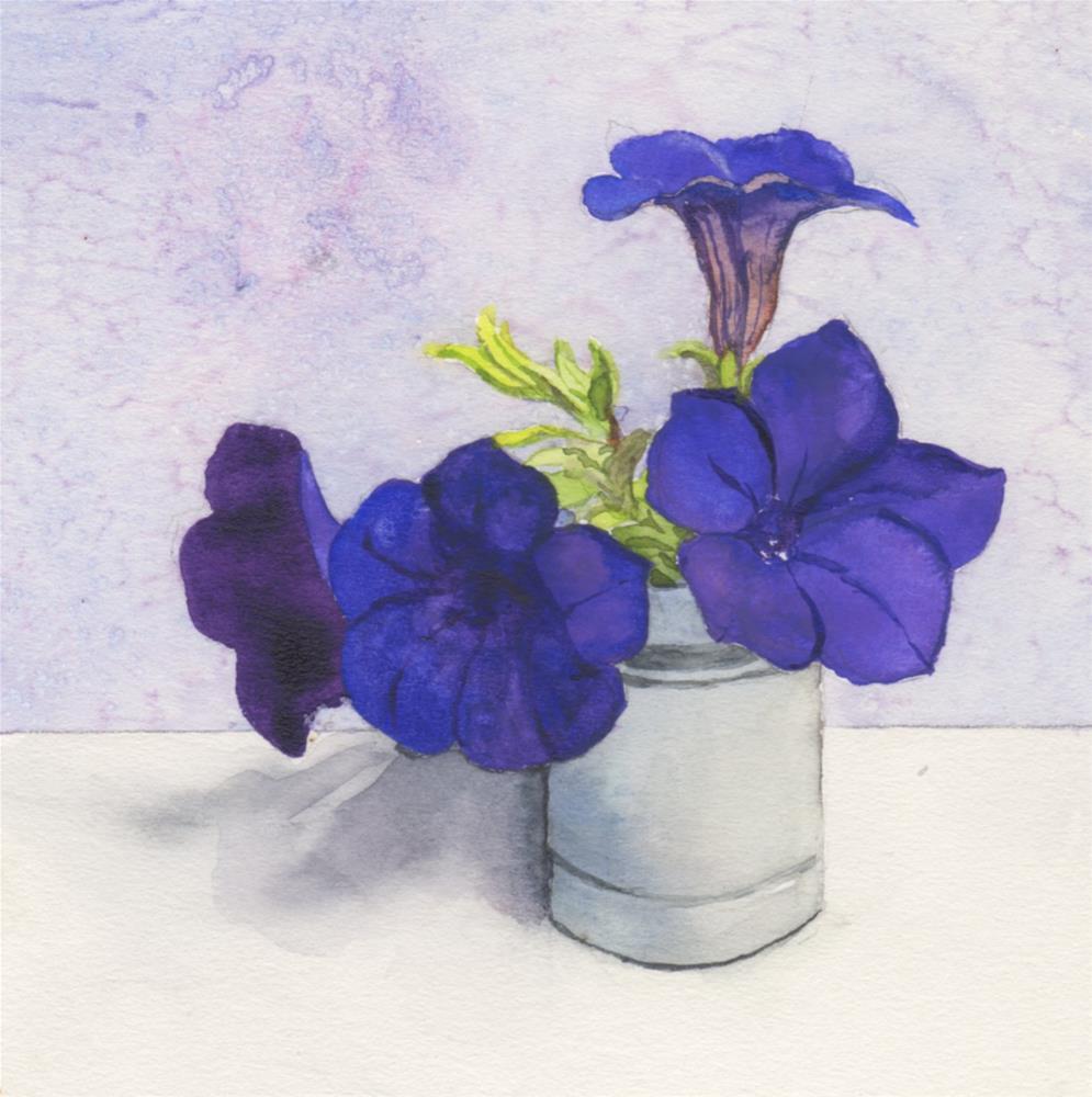"""Last of the Blue Waves"" original fine art by Carole Baker"