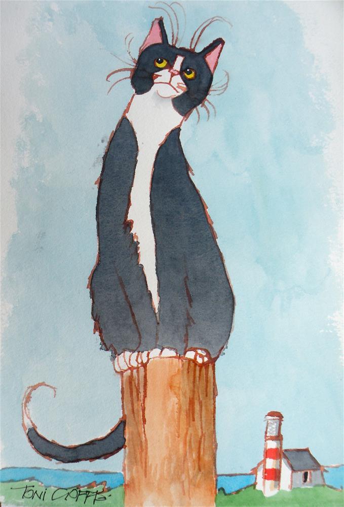 """Sea Gull Hunnt"" original fine art by Toni Goffe"