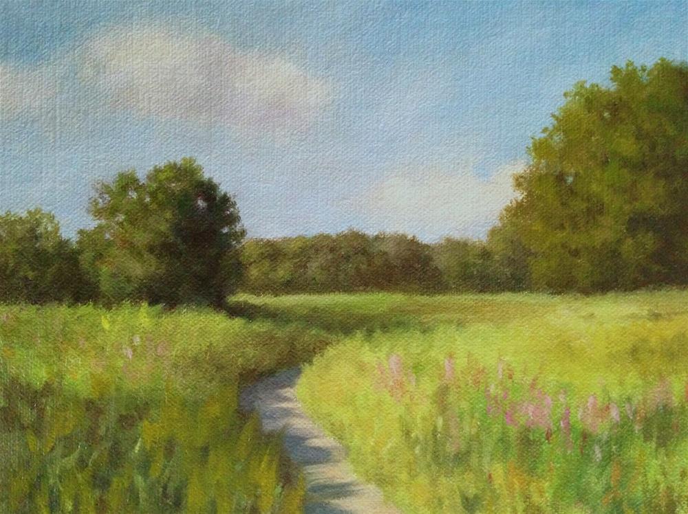"""Concord Summer Landscape"" original fine art by Michelle Garro"