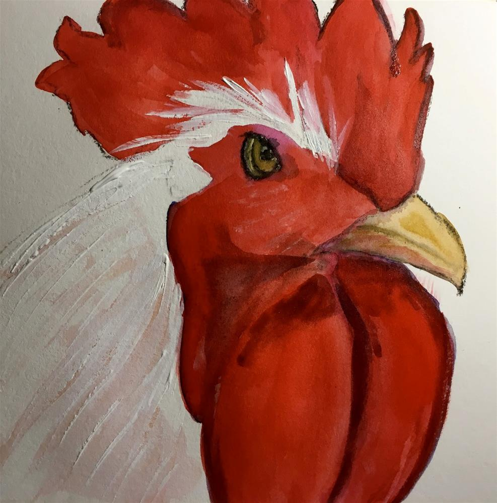 """#25 Big Red"" original fine art by Kimberly Balentine"